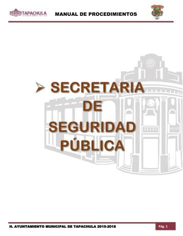 SECRETARIA DE SEGURIDAD PUBLICA MUNICIPAL