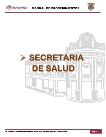 SECRETARIA DE SALUD MUNICIPAL