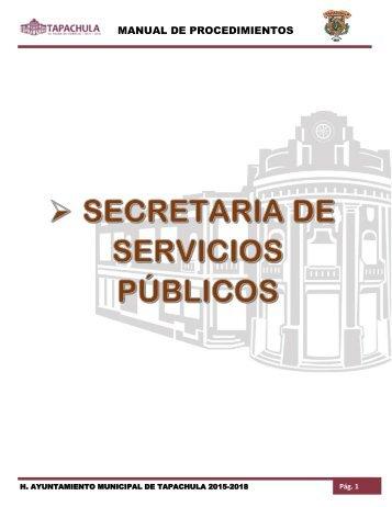 SECRETARIA DE SERVICIOS PÚBLICOS