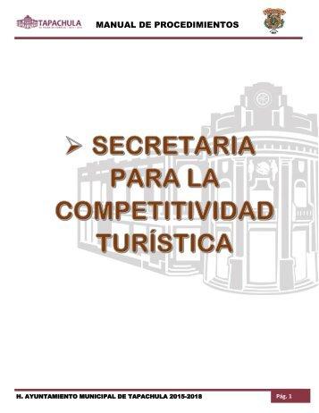 SECRETARIA PARA LA COMPETITIVIDAD TURÍSTICA
