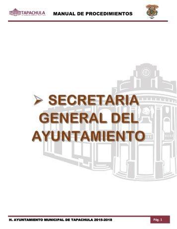 SECRETARIA GENERAL DEL AYUNTAMIENTO