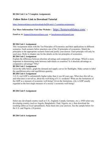 Bu204 Macroeconomics Unit 2 Assignment