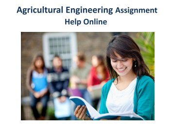 Agricultural Engineering Assignment Help Online