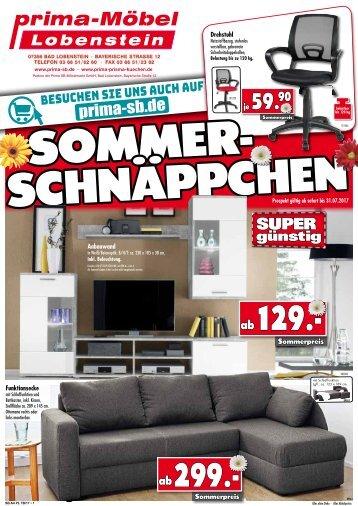 Prima Sommer-Schnäppchen bei Prima Möbel in 07356 Bad Lobenstein!