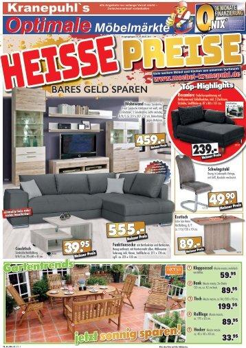 Heisse Preise bei Kranepuhl's Optimale Möbelmärkte in Bad Belzig, Brandenburg und Rathenow!