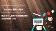 ExamGood H35-360 Huawei Certified Network Associate-IMS practice exam questions