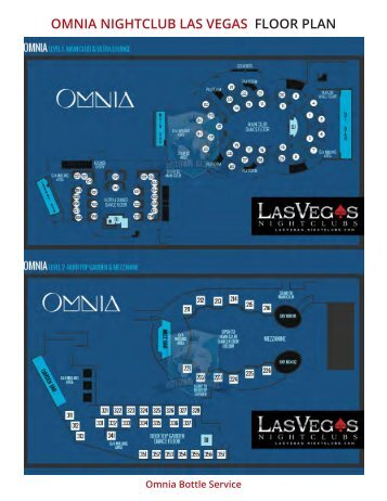 Omnia Floor Plan and Table Seating Chart