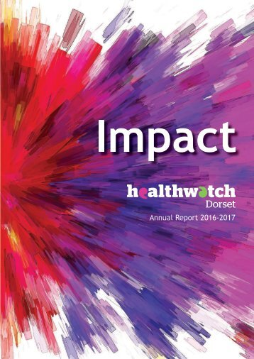 Healthwatch Dorset Annual Report 2016-2017