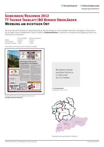 Gemeinden/Regionen 2012 TT Thuner Tagblatt/BO Berner ...