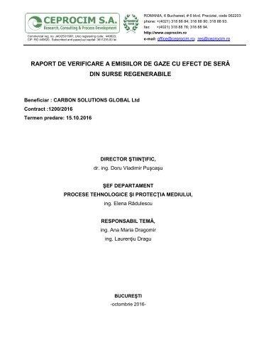 Raport verificare Ceprocim