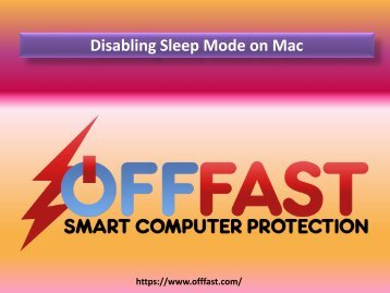 Disabling Sleep Mode on Mac - OFF FAST