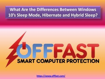 What Are the Differences Between Windows 10 Sleep Mode, Hibernate and Hybrid Sleep - OFF FAST