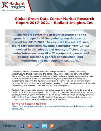 green data center market global Green data center market - global industry analysis, size, share, growth,  trends, and forecast 2014 - 2022 global green data center market flourishing  on.