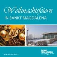 Weihnachtsfeiern in Sankt Magdalena