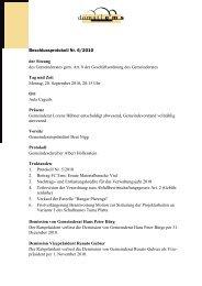 Protokoll Nr. 6 vom 20. September 2010 - Domat/Ems