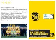 Matchprogramm - BSC Young Boys