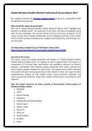 Global Window Handles Market Professional Survey Report 2017