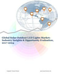 Global Solar Outdoor LED Lights Market (2017-2024)- Research Nester