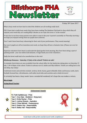BFHA - Newsletter 35 30.06.17