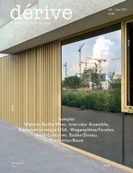 Sampler / dérive - Zeitschrift für Stadtforschung, Heft 68 (3/2017)