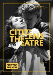 Citizens Theatre Autumn 2017 Season Brochure