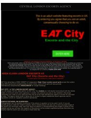 EATCity London escorts
