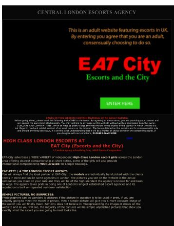 EATCity London escorts