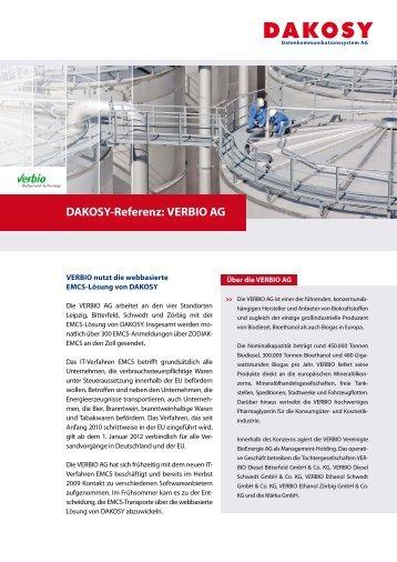 VERBIO AG - DAKOSY Datenkommunikationssystem AG