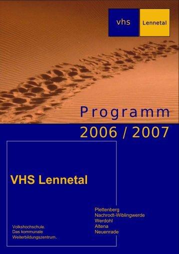 VHS Lennetal - Deutsches Institut für Erwachsenenbildung
