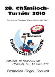 28. Chämiloch-Turnier 2010 - Gasthaus Kreuz