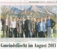 Gmeindsfäscht im August 2011 - Gasthaus Kreuz