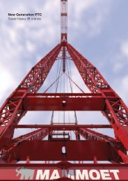 New Generation PTC Super heavy lift cranes - Mammoet PTC
