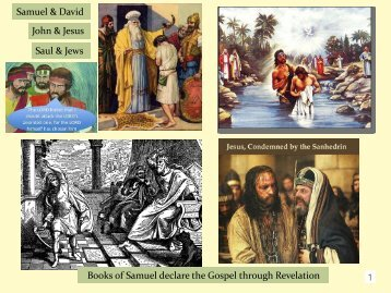 Parallels in Samuel: Samuel to John & David to Christ