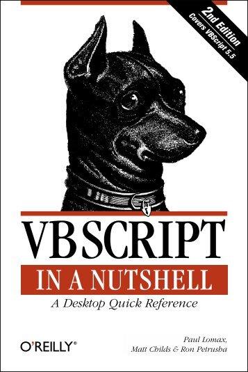 vbscript in a nutshell - O'Reilly Media