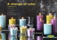 A change of color - IKEA Catalog 2013