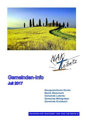 Gemeindeinfo Juli 2017