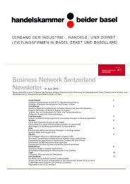 Business Network Switzerland - Handelskammer beider Basel