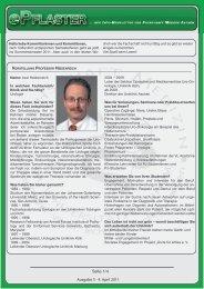 5. Ausgabe April 2011 - Fachschaft Medizin RWTH Aachen