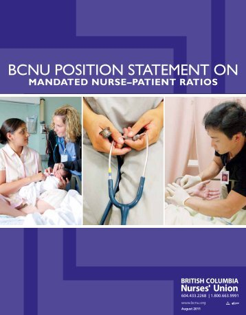mandated nurse–patient ratios - British Columbia Nurses' Union