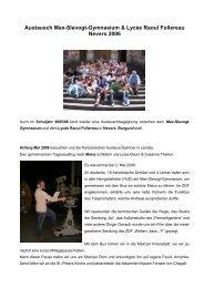 Berichte Nevers 2006 - Max Slevogt Gymnasium Landau