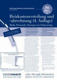 Heizkostenverteilung und -abrechnung (4. Auflage) - trend:research