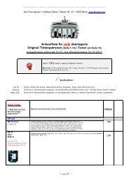 Ankaufliste Preisliste buylist volle unused Toner Tintenpatronen Juli2017