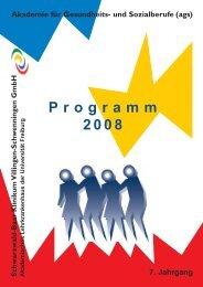 Programm 2008 Akademie für Gesundheits- und Sozialberufe (ags)