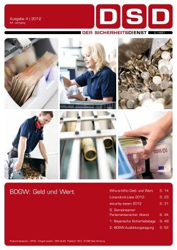 BDGW: Geld und Wert - BDSW