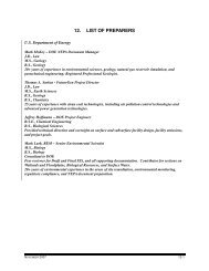 12. LIST OF PREPARERS - U.S. Department of Energy