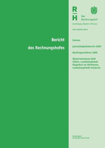 Bericht des Rechnungshofes - Der Rechnungshof