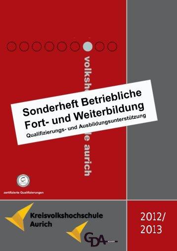Betriebliche Fort - Kreisvolkshochschule Aurich