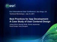 A Case Study of User Centered Design - Esri