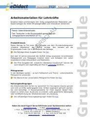 Arbeitsmaterialien Grundschule - Textsuche: in der ... - bei eDidact