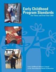 Early Childhood Program Standards
